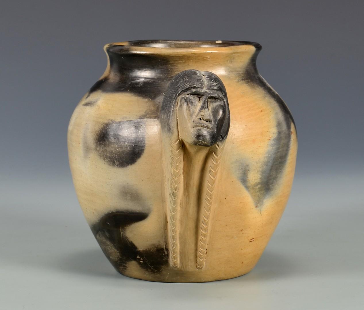 Lot 630: Signed NC Cherokee Pottery Jar, Maude Welch