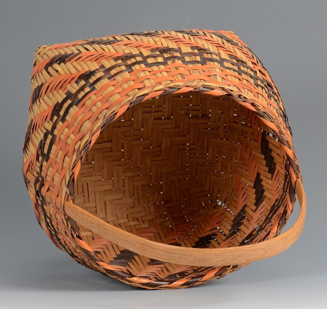 Lot 632: Cherokee Indian Rivercane Basket