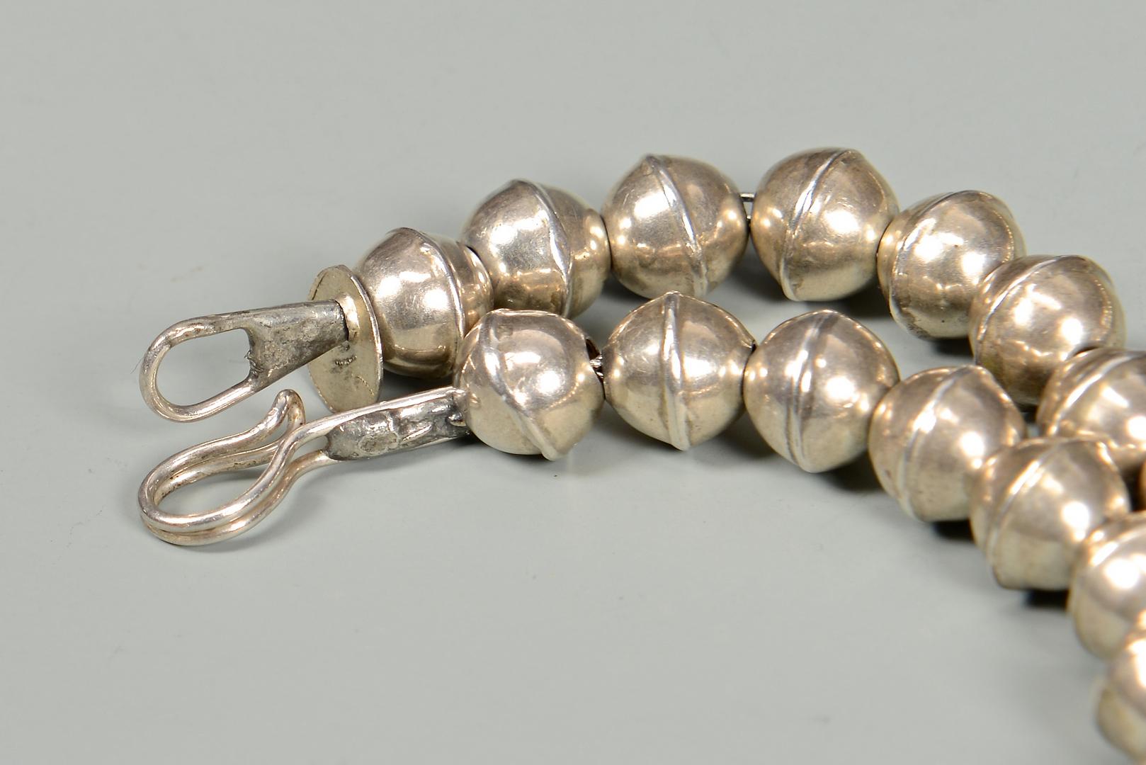 lot 637 handwrought navajo silver bead necklace