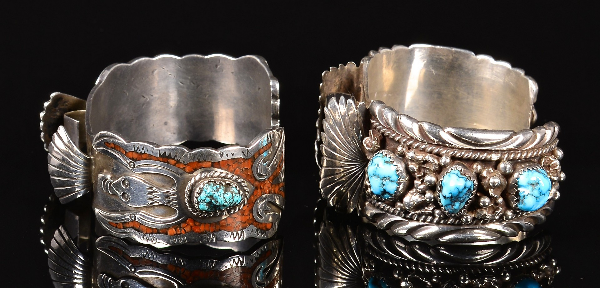 Lot 640: 3 Articles of Navajo Jewelry