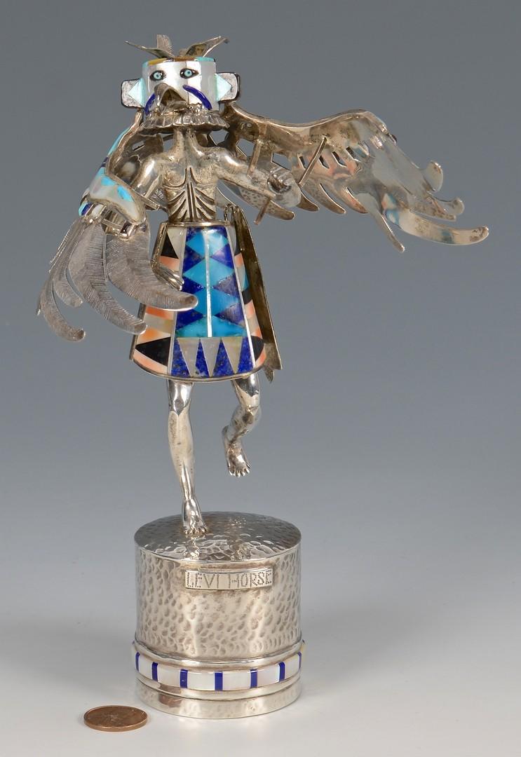 Lot 641: Navajo Silver Kachina, Levi Horse