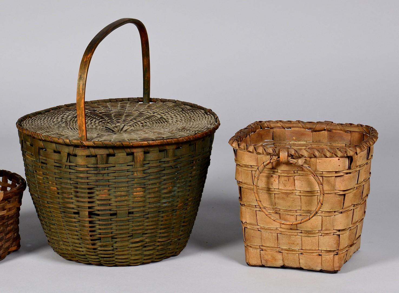 Lot 643: Group 10 Baskets, NE and Native Am