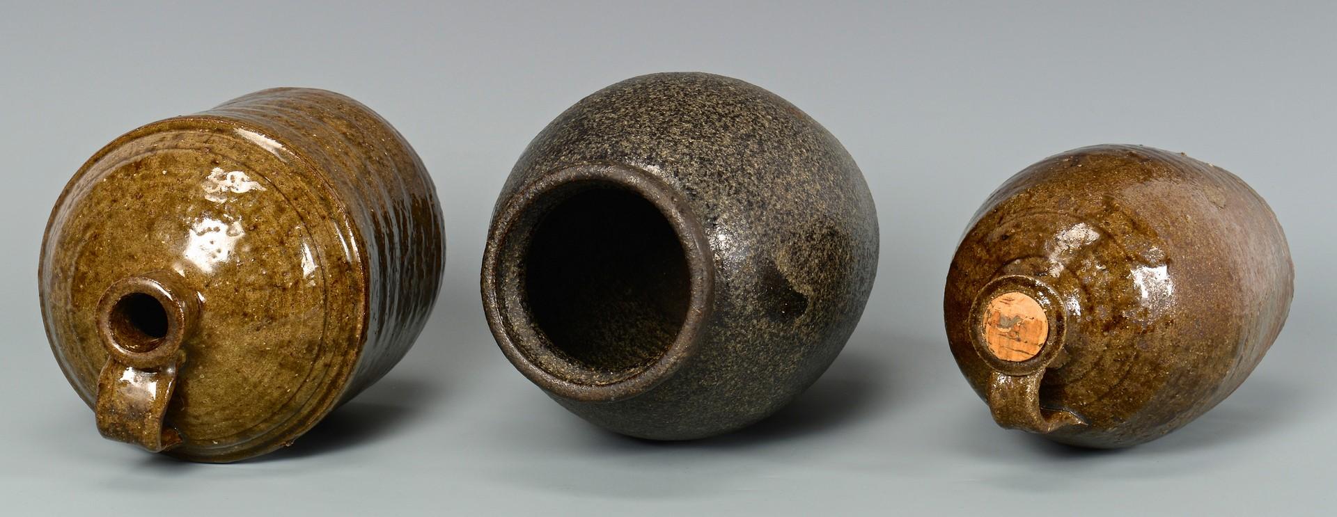 Lot 646: 3 Alkaline Stoneware Forms, attrib. NC