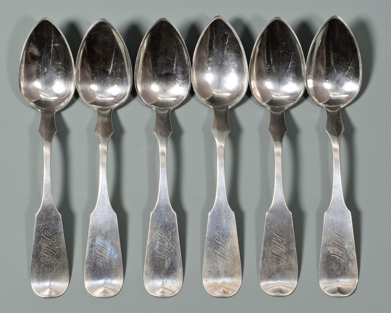 Lot 64: 15 Louisville, KY coin silver spoons