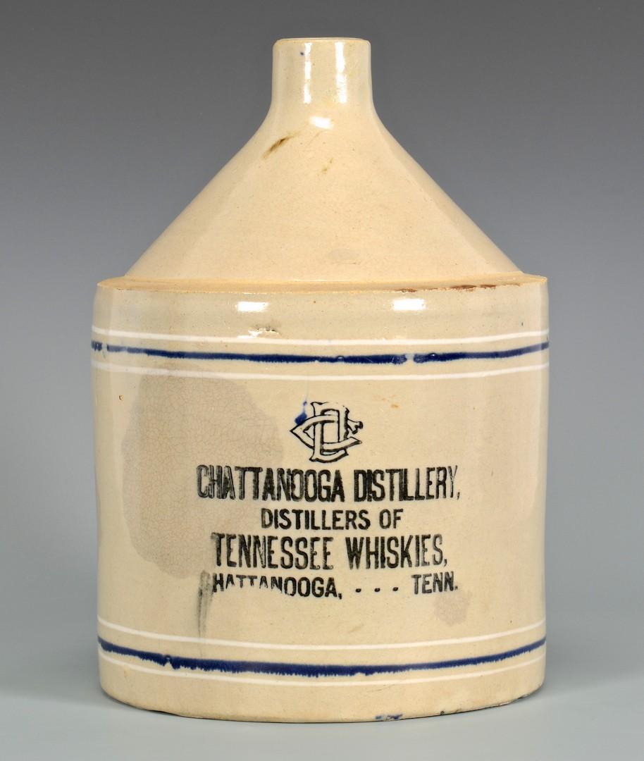 Lot 650: 4 East TN Whiskey Advertising Jugs