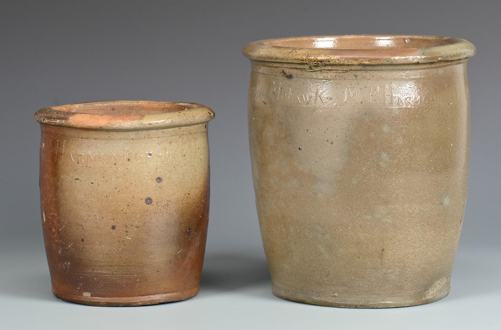 Lot 653: 2 East TN M.P. Harmon Stoneware Jars