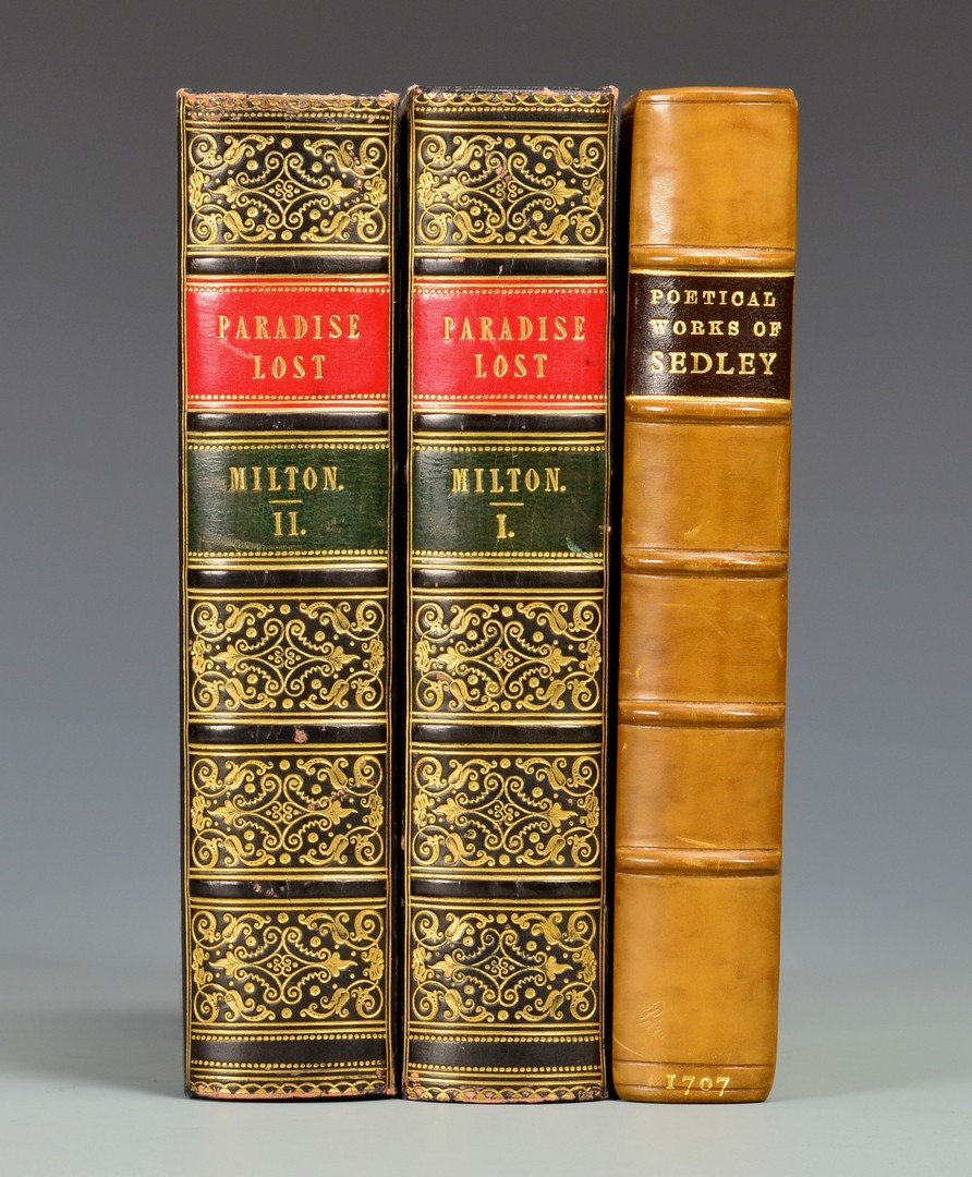 Lot 663: Milton, Paradise Lost 1750 and Sedley's Works 1707