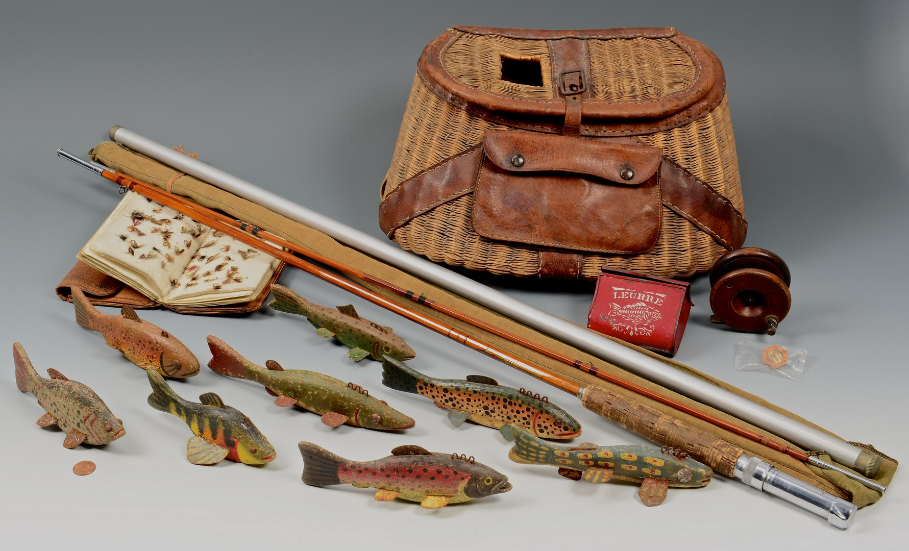 Lot 666 Grouping Of Vintage Fly Fishing Items