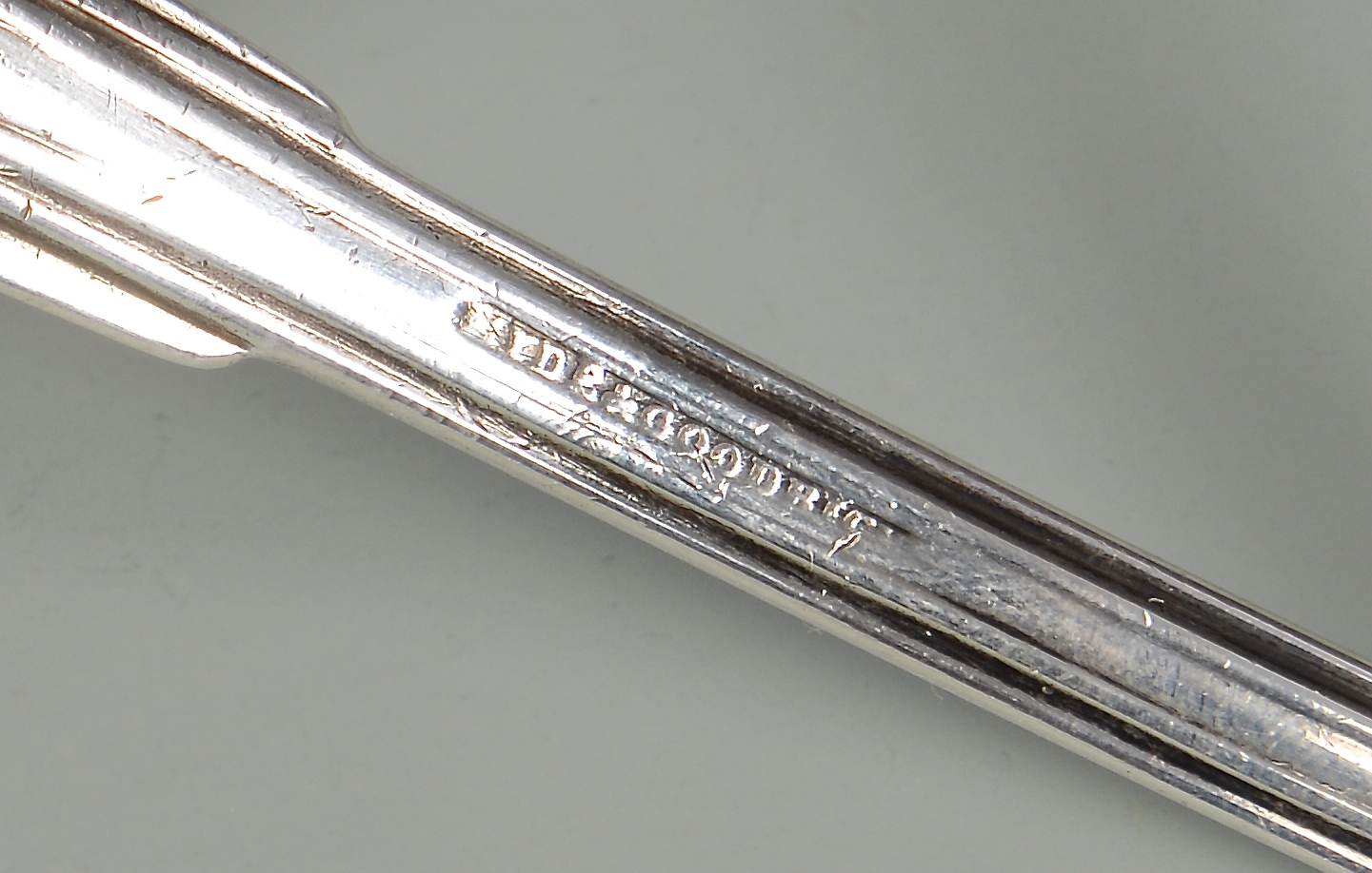 Lot 66: Hyde & Goodrich Coin Silver Ladle, New Orleans