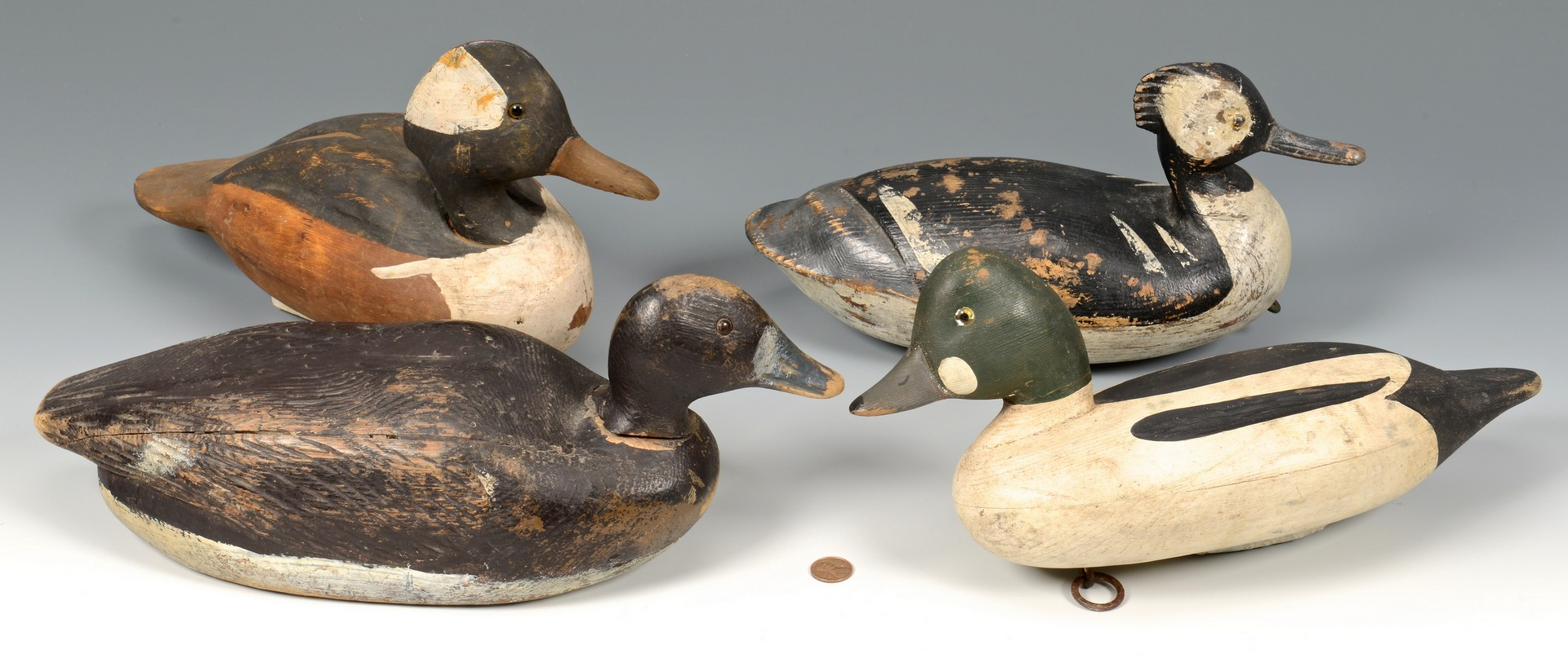 Lot 675: Reggie Birch Decoy & 3 others