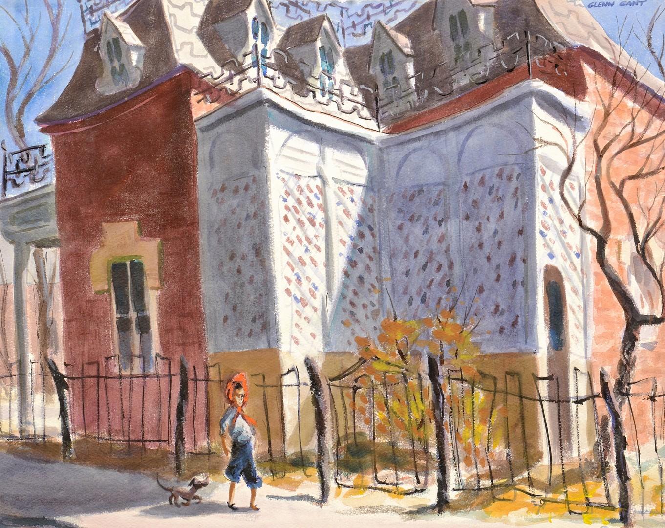 Lot 678: Glenn Gant Urban & Landscape Watercolor (2)