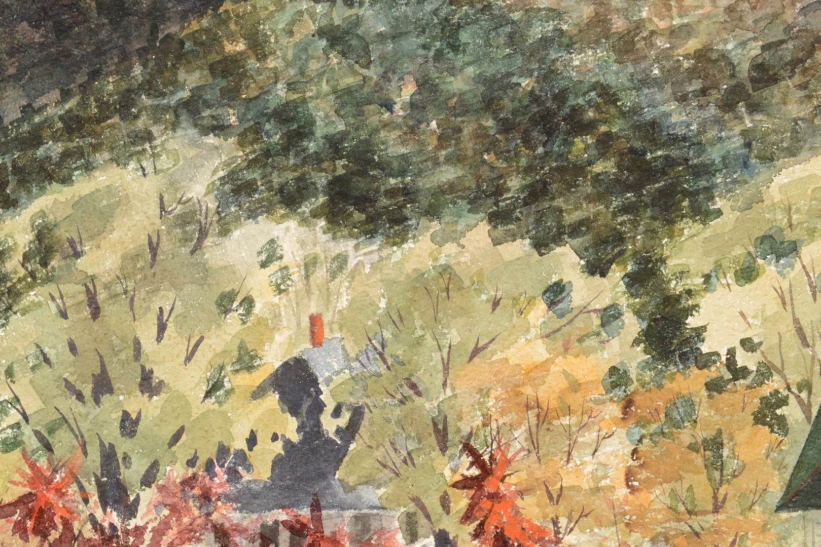 Lot 679: Glenn Gant Landscape Watercolor