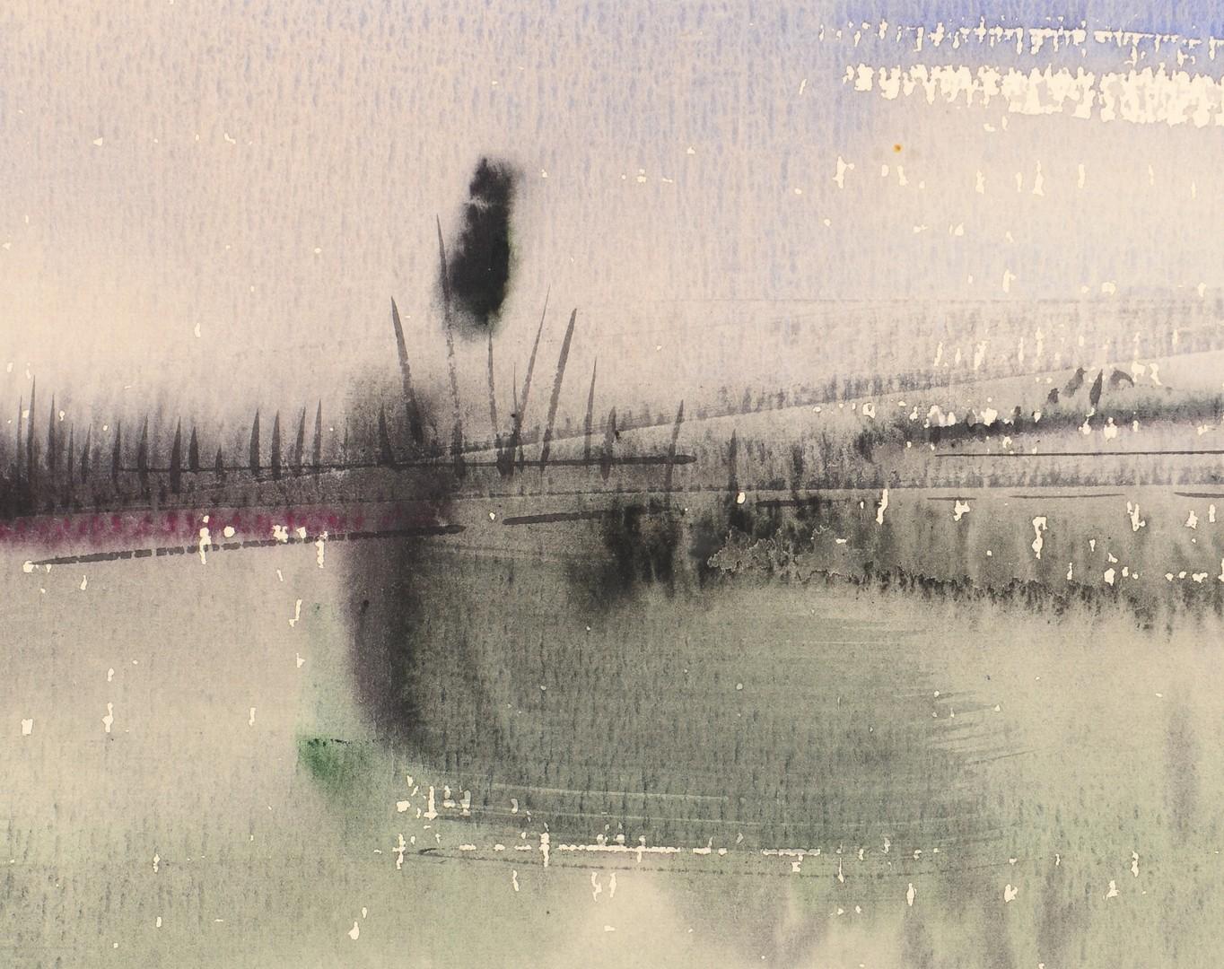 Lot 686: 2 Richard Clarke, TN, Abstract Watercolors