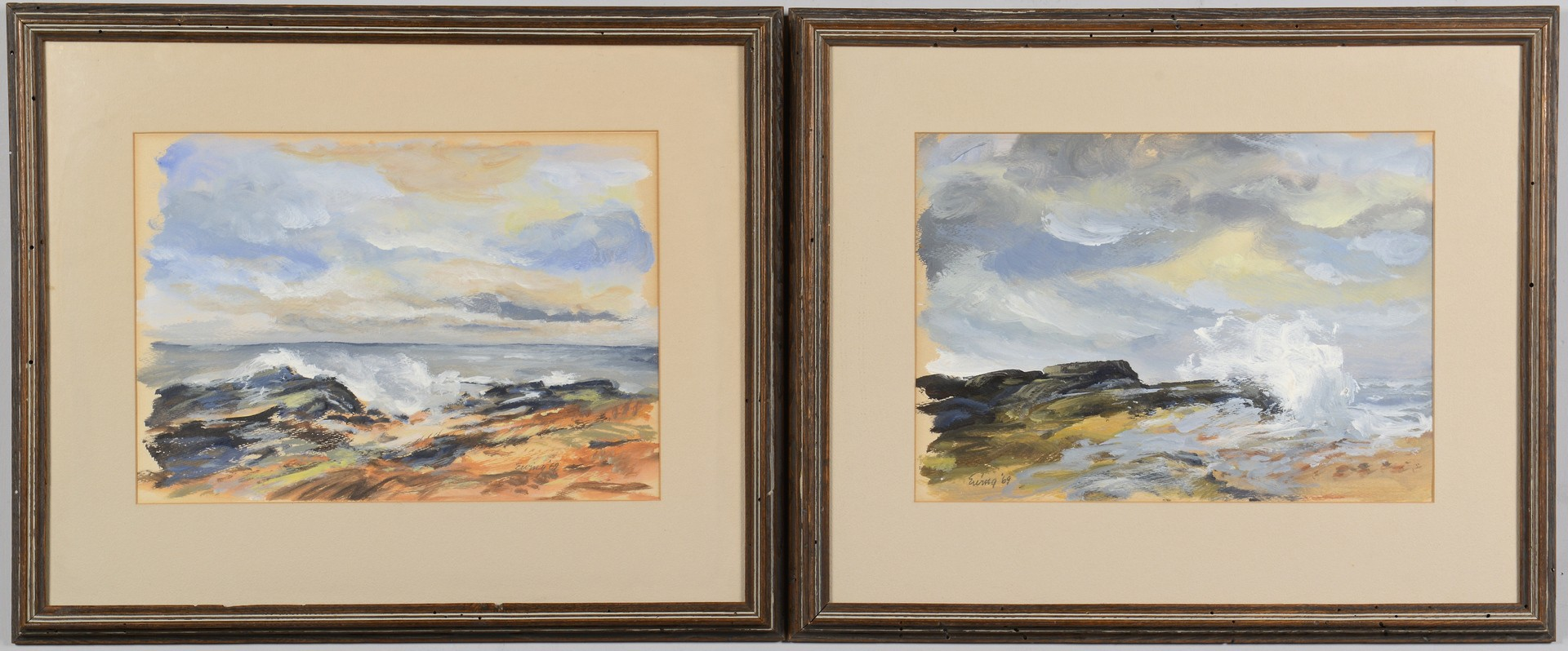 Lot 687: 2 Kermit Ewing Watercolors