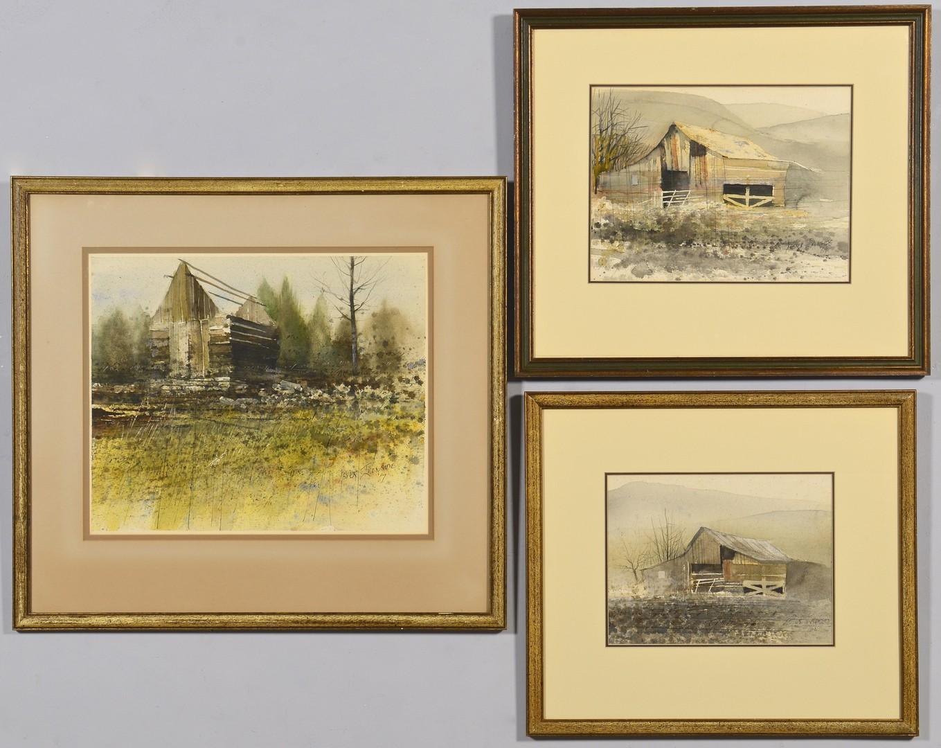 Lot 688: Group of 3 TN Xavier Ironside Watercolors