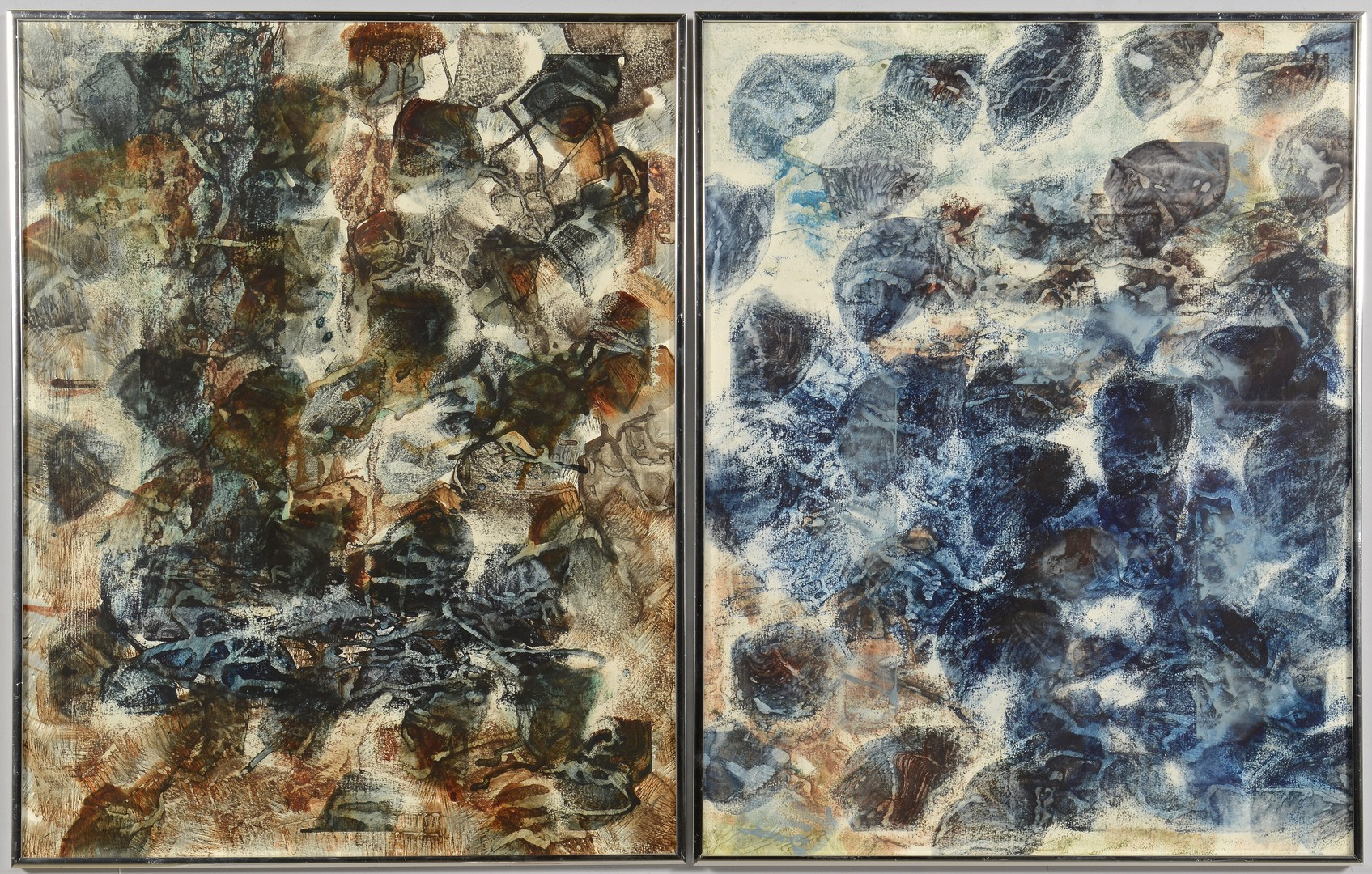 Lot 690: Pair Watercolors by Gary E. Gee