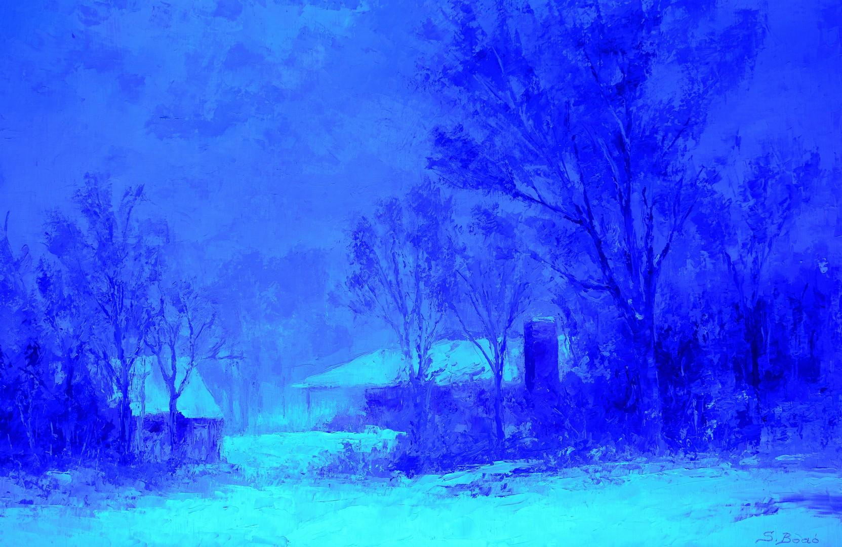 Lot 697: Sandor Bodo O/C, Winter Landscape