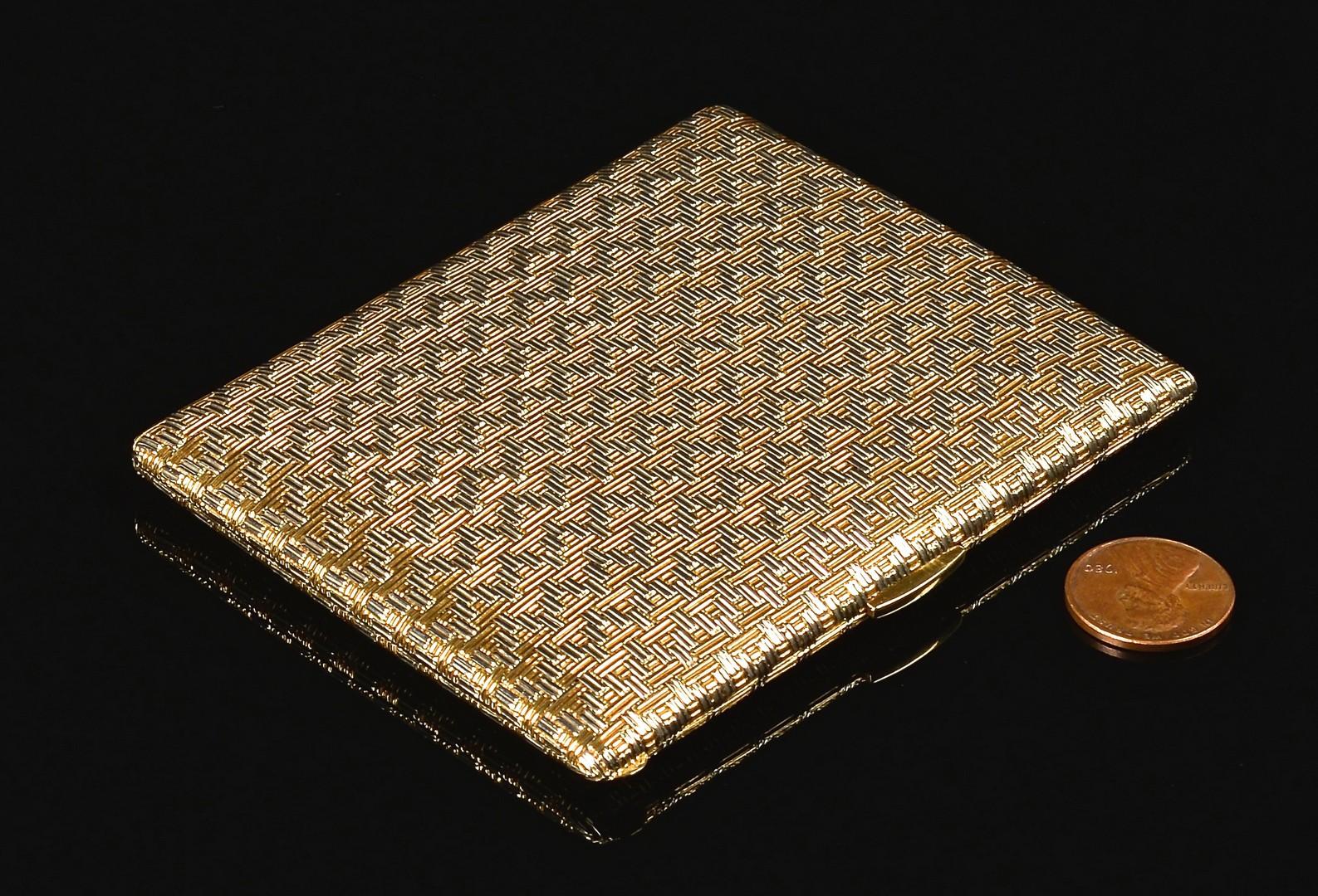 Lot 69: 18k Tiffany Cigarette Case, 135.5 grams