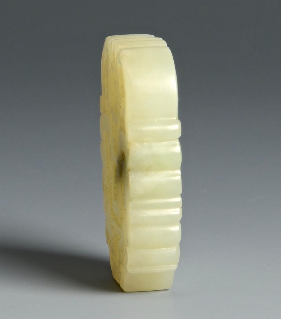 Lot 706: 3 Carved Jade pendants