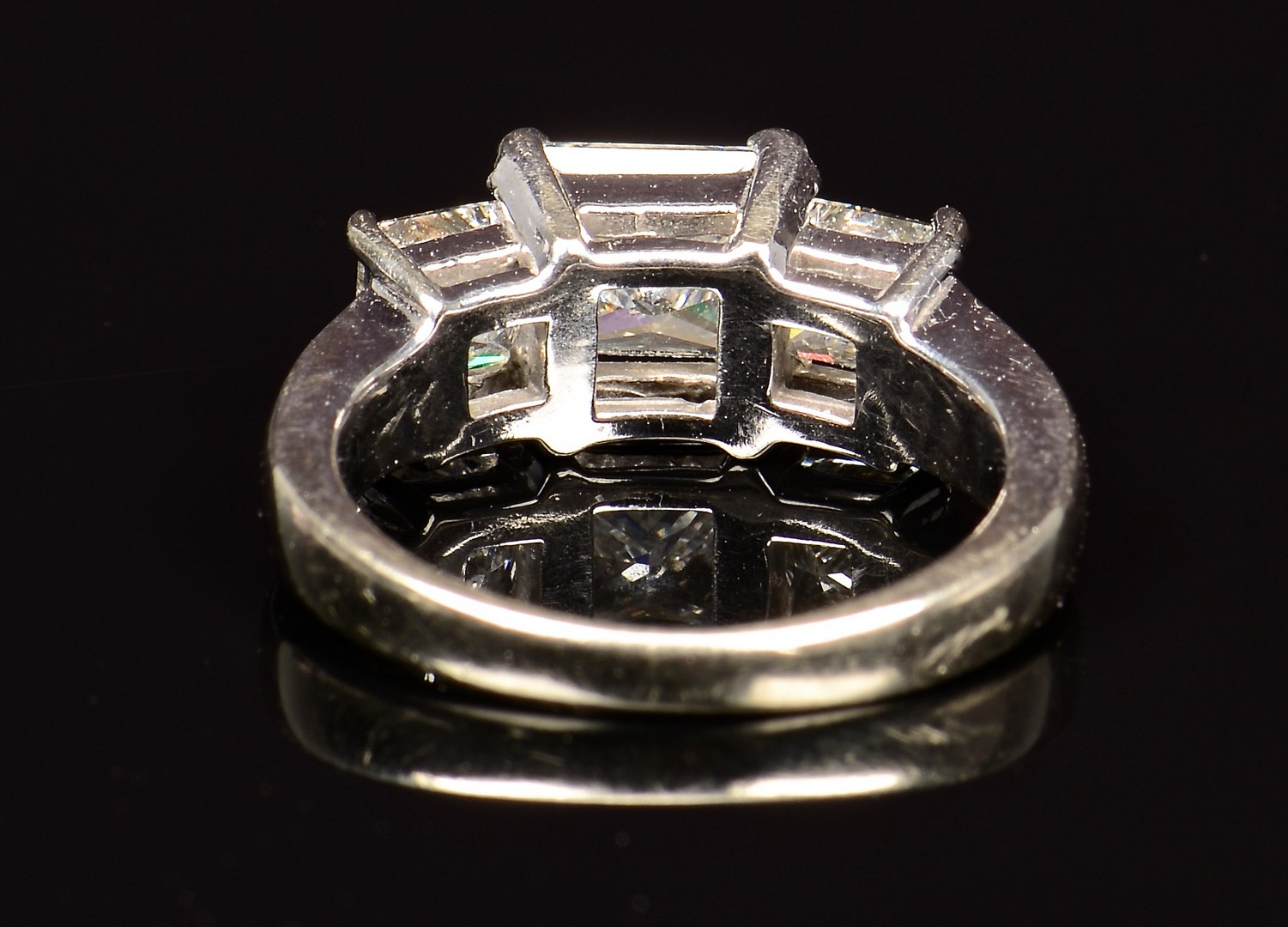 Lot 70 14k 3 Stone Princess Cut Dia Ring Gia Report