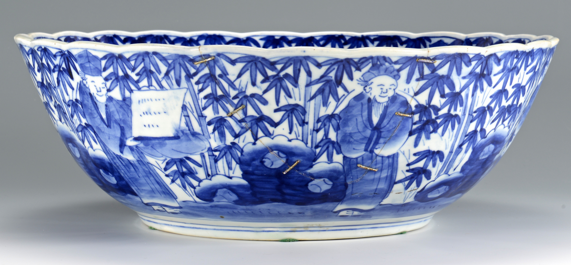 Lot 716 Chinese Blue And White Punch Bowl 19th C