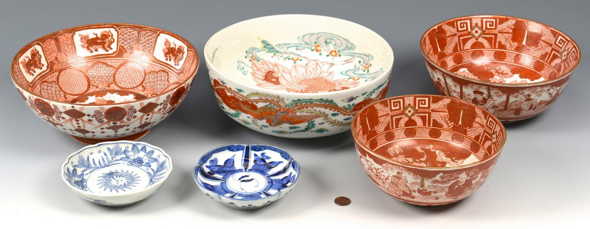 Lot 719: 6 Asian Porcelain Bowls incl. Gilded Kutani
