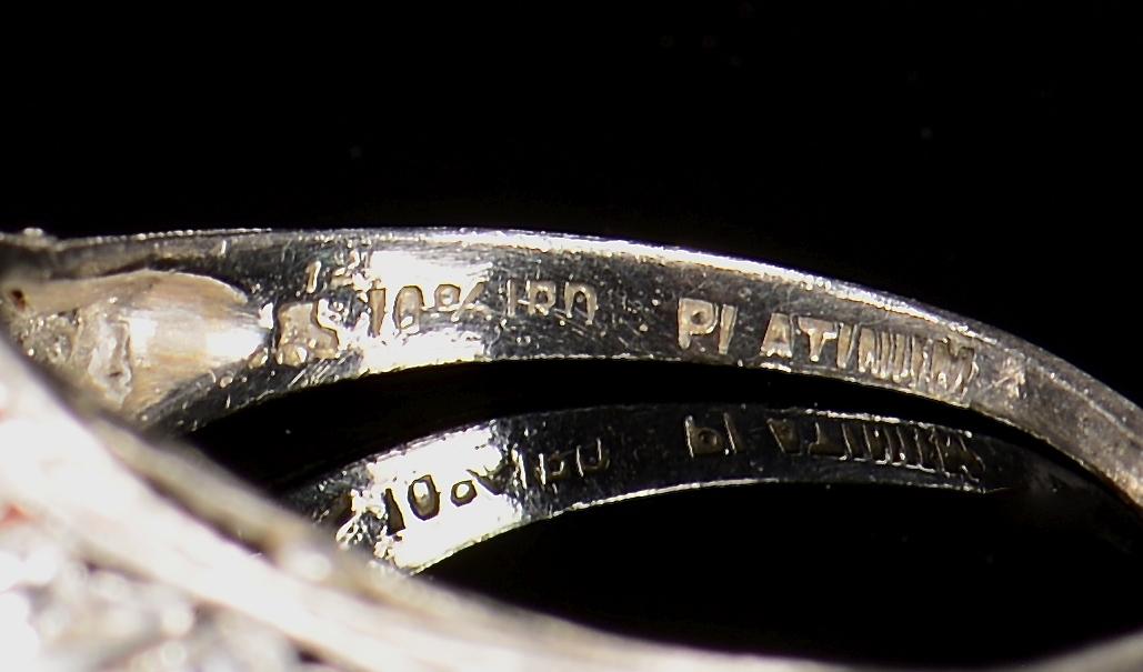 Lot 71: 1.25 ct OMC Vintage Platinum Set