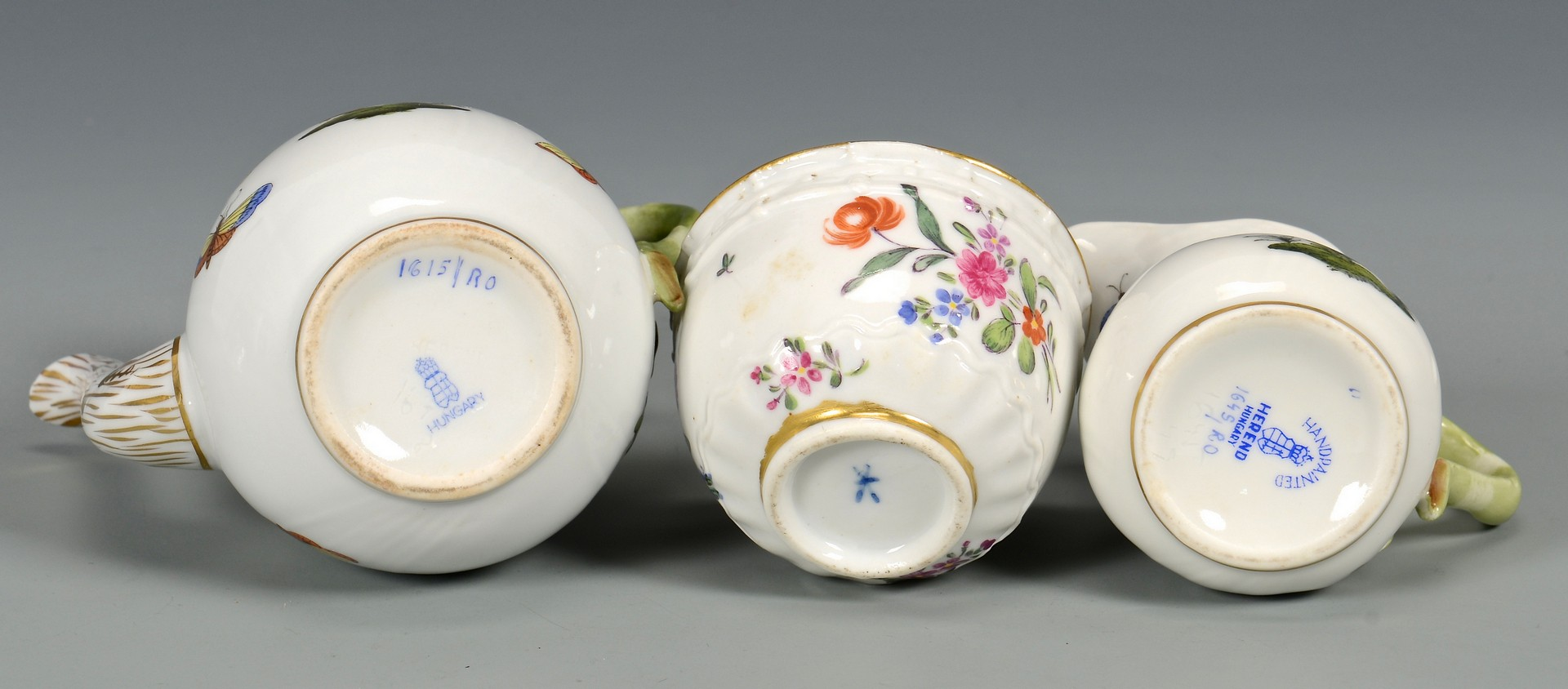 Lot 722: Group of Herend Rothschild plus Meissen