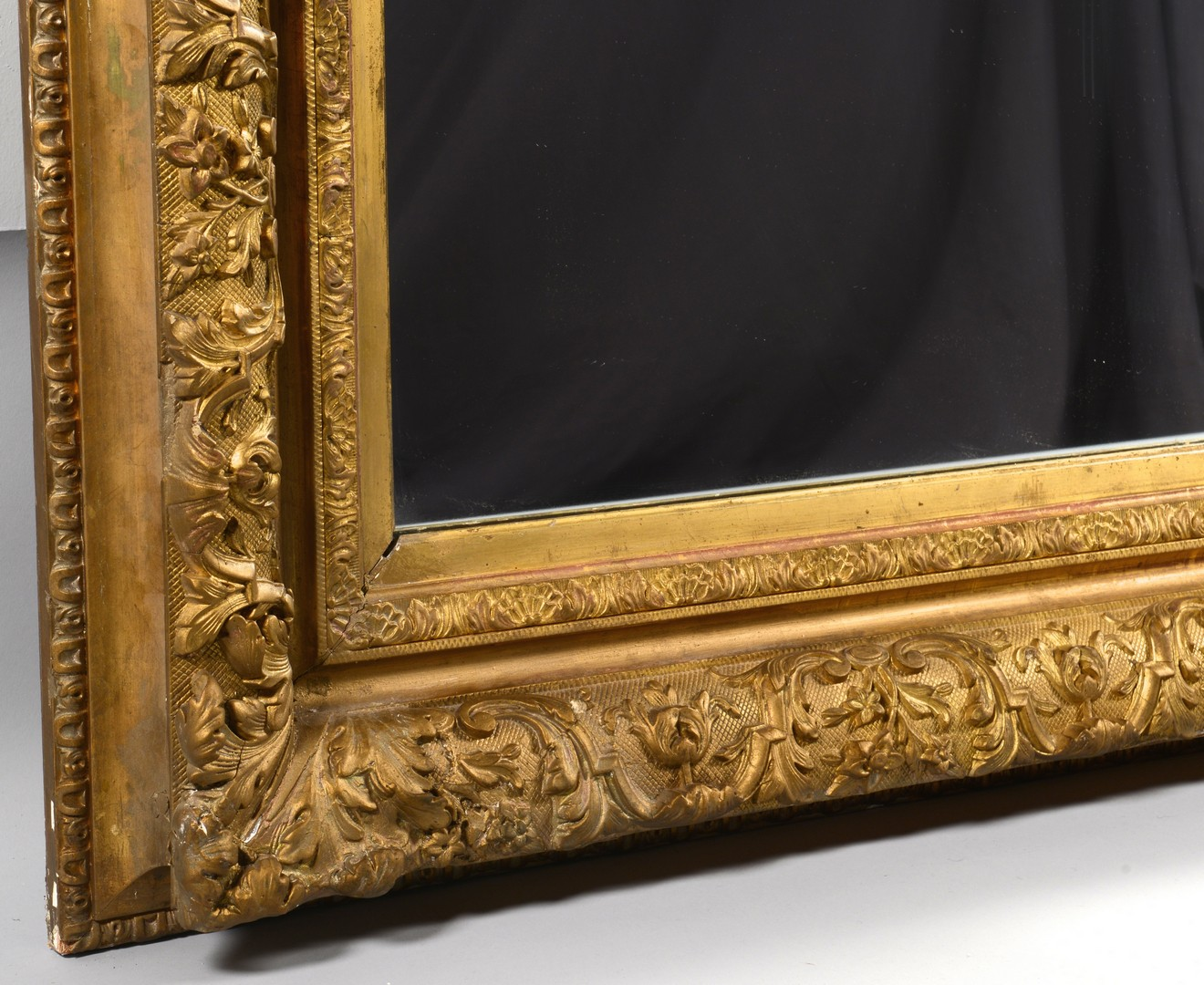 Lot 737: Large 19th Century Giltwood Mirror or Looking Glas