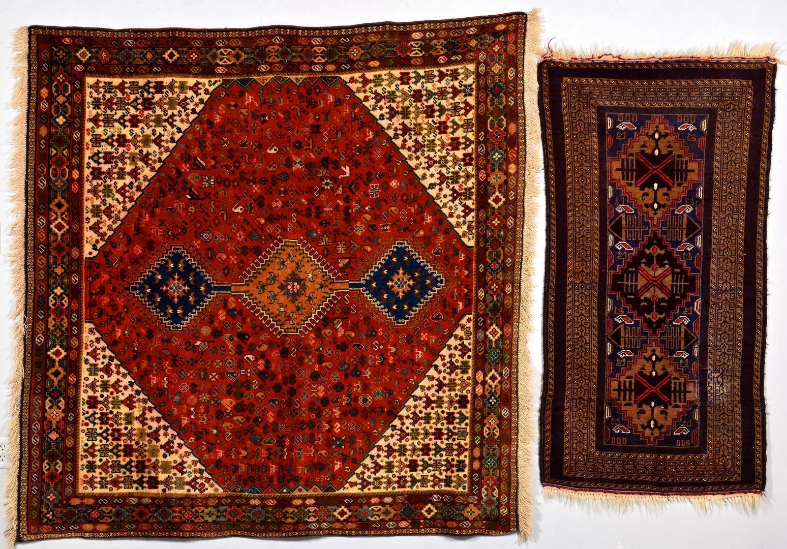 Lot 742: Persian Yalameh or Shiraz & Iranian Baluchi Rug