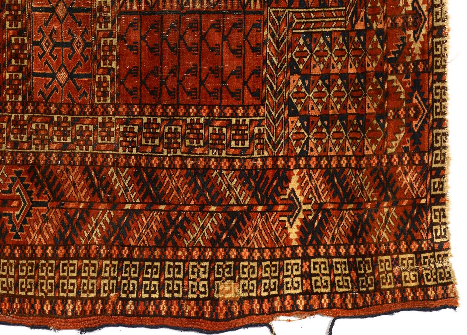 "Lot 746: Tekke Engri area rug, 53 1/2"" x 49 1/2"""
