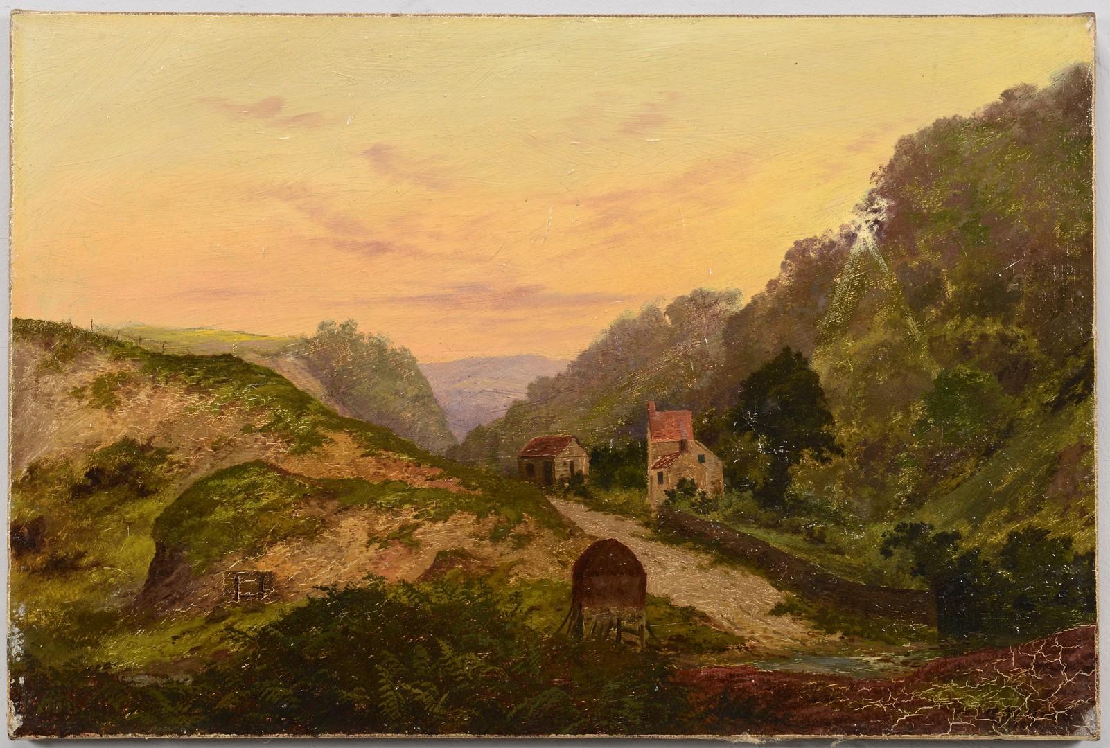 Lot 749: American School Landscape Oil on Canvas