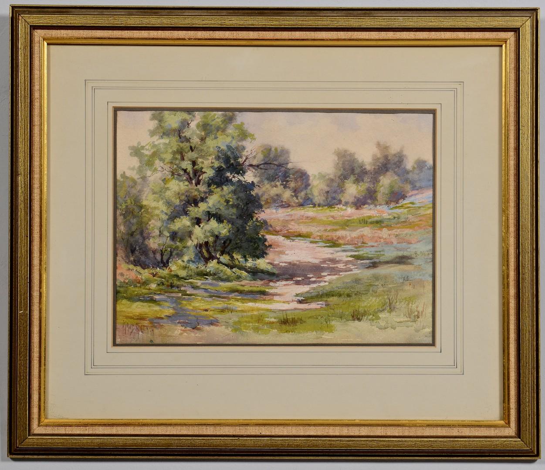 Lot 757: Maude Leach Watercolor/Gouache Landscape