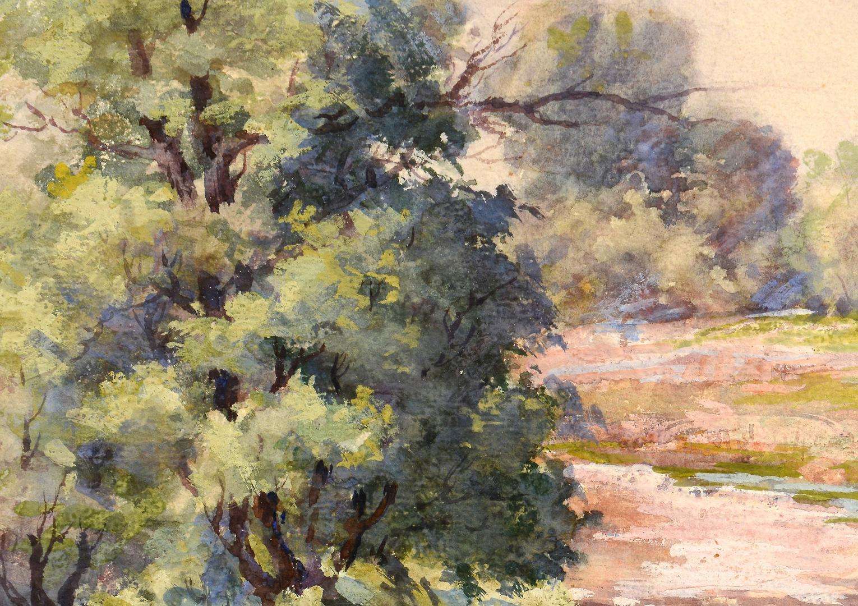 Lot 757 Maude Leach Watercolor Gouache Landscape