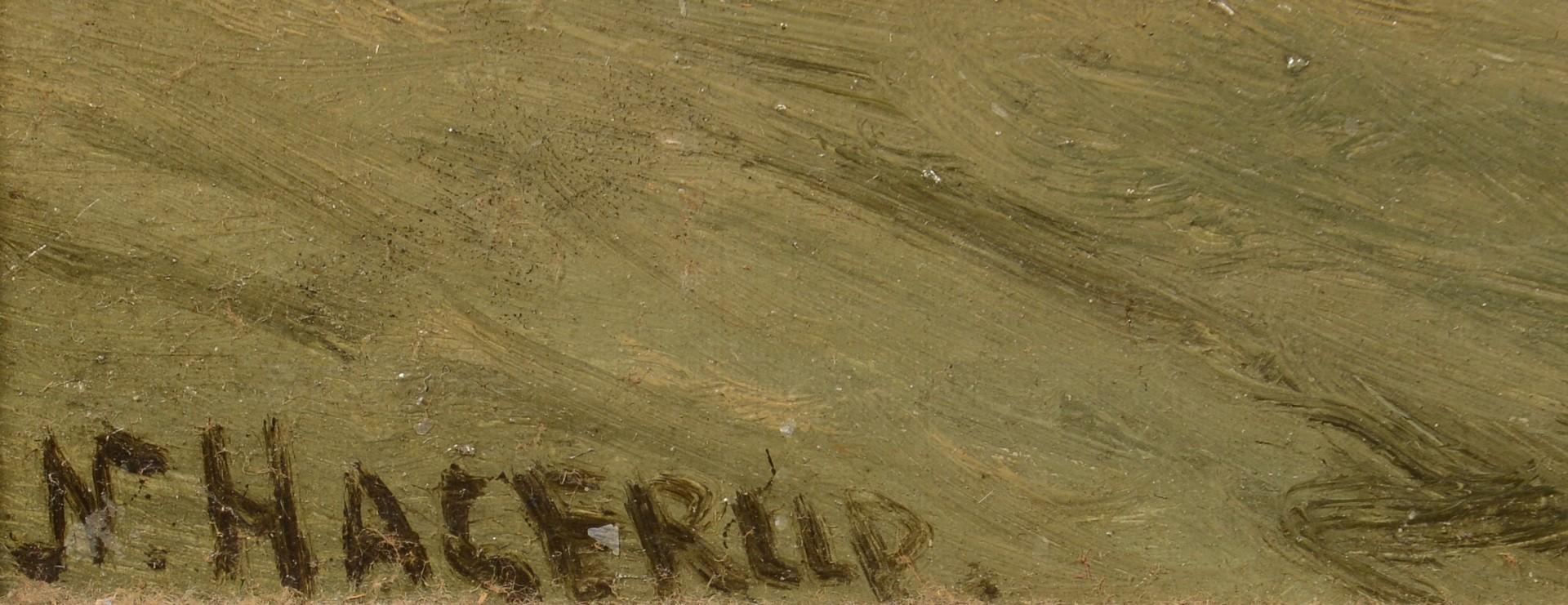 Lot 758: Nels Hagerup Oil on Board Seascape
