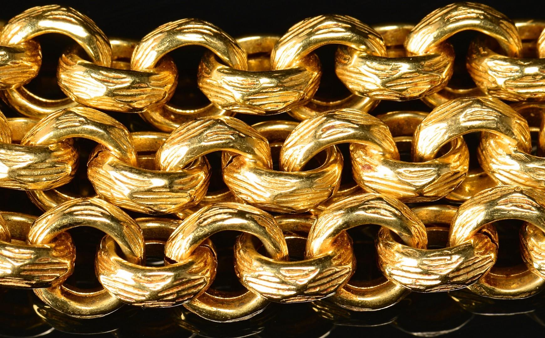 Lot 75: 18K Gold Italian Link Necklace