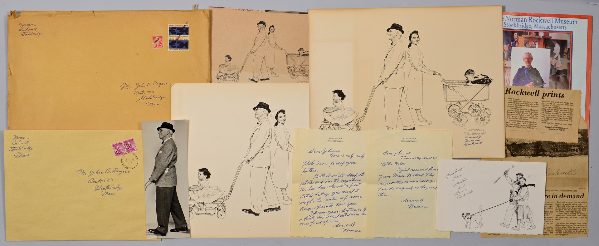 Lot 762: Norman Rockwell Archive inc. Signed Letters