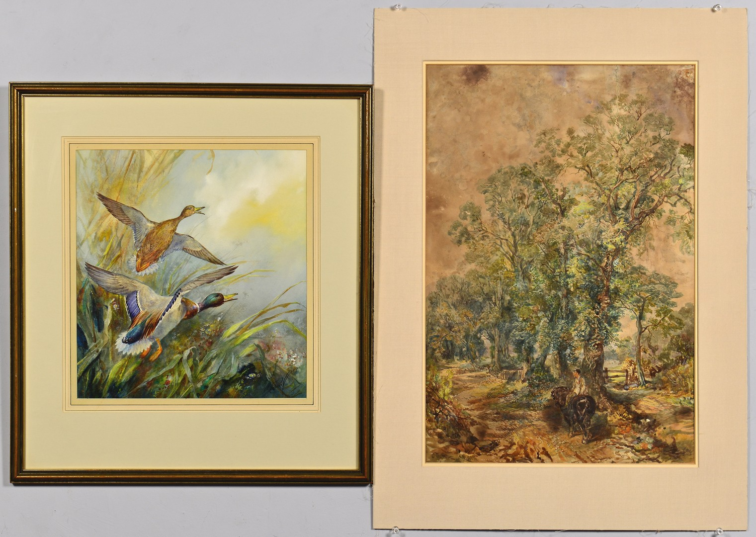 Lot 766: 2 Watercolors: Thornton and Pearl