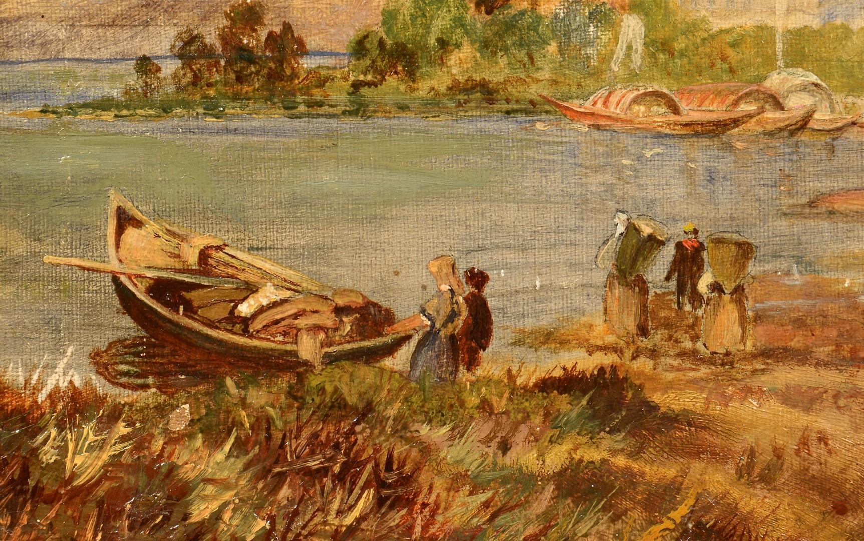 Lot 767: European Harbor Painting, 19th century