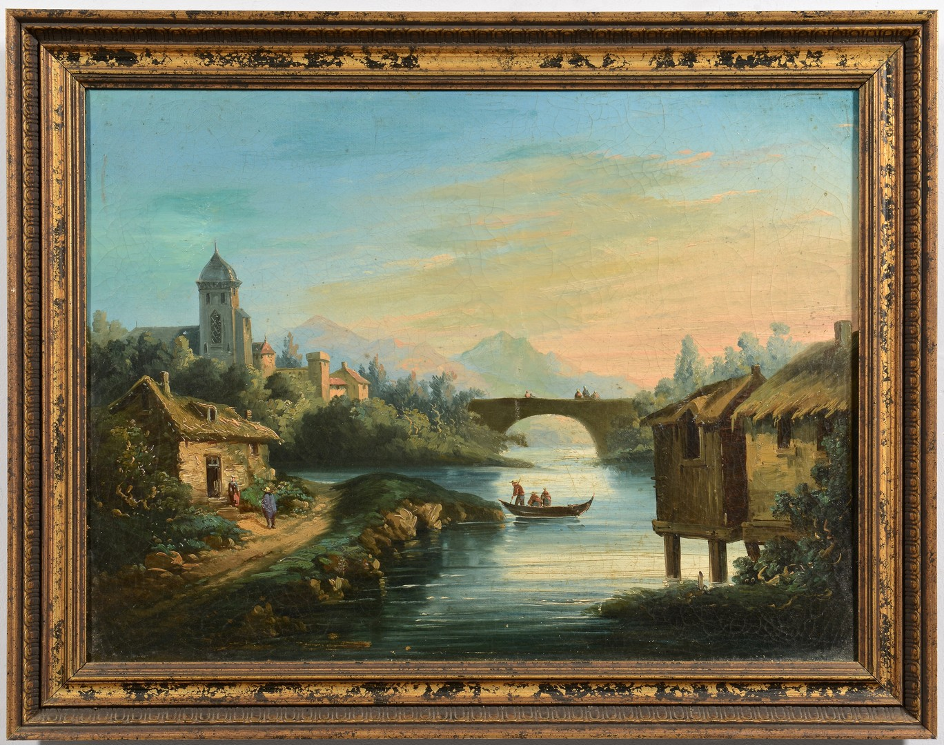 Lot 769: Group of two Continental landscapes
