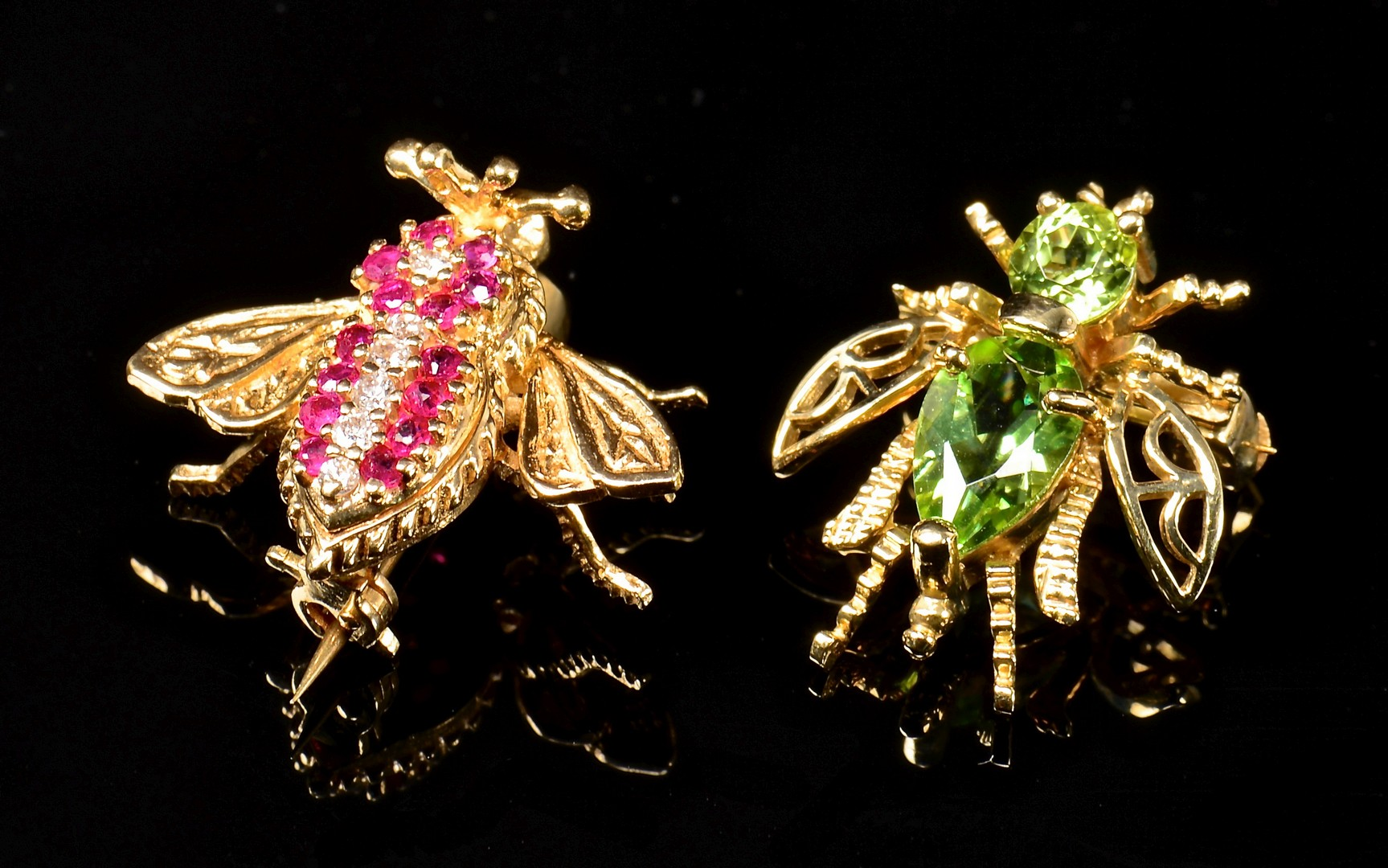 Lot 76: Herbert Rosenthal 18K Bee & 2 others