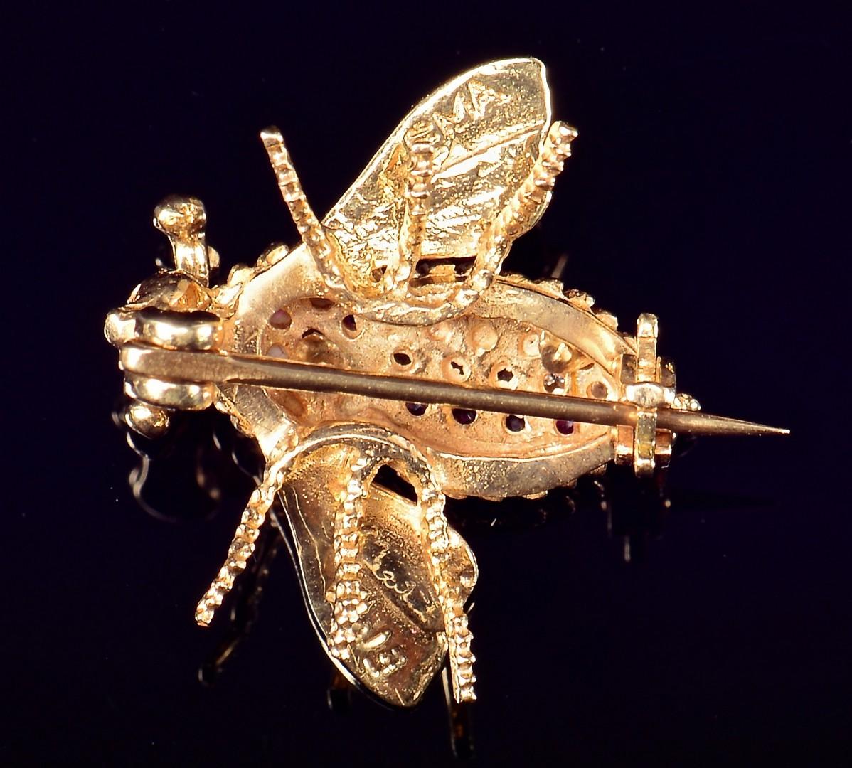 Lot 76: Herbert Rosenthal 18K Bee & 2 others