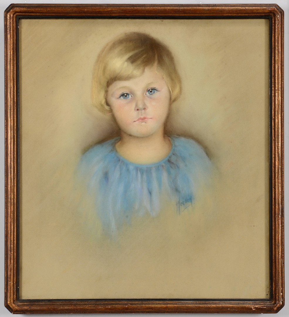Lot 772: Two 20th Century Pastel Portraits