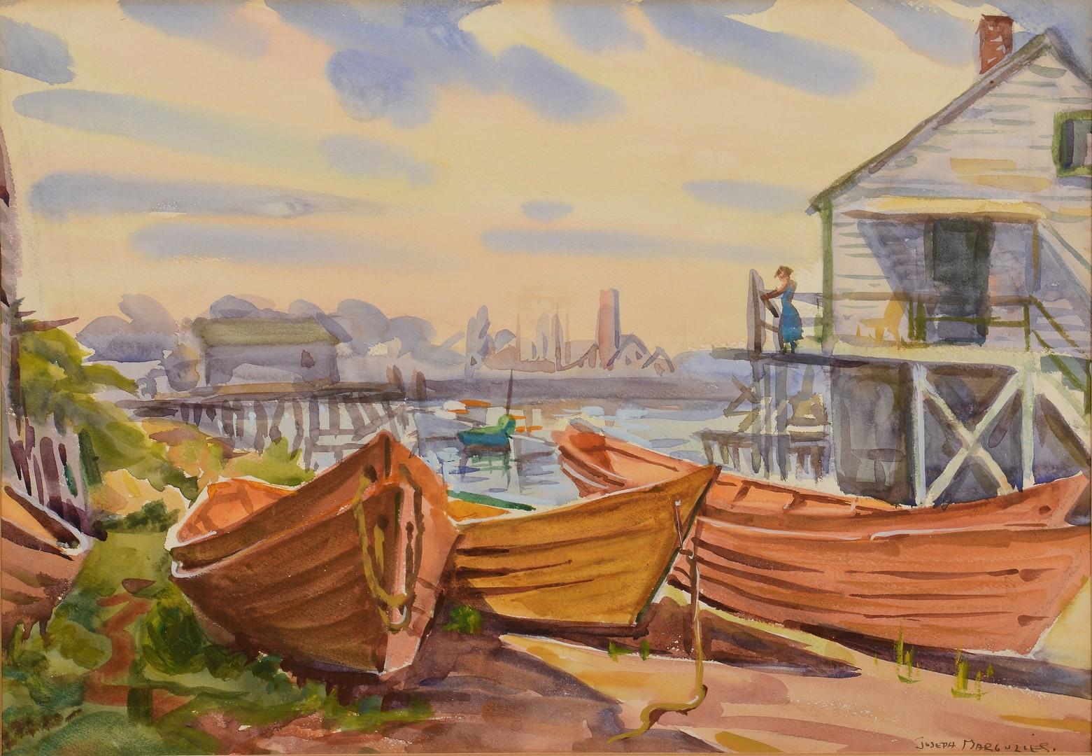 Lot 773: 2 Harbor Scene paintings