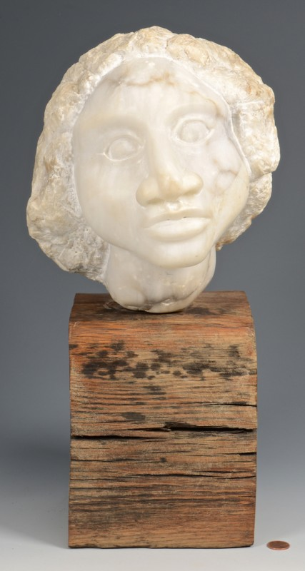 Lot 778: Ted Hatchett Marble Sculpture