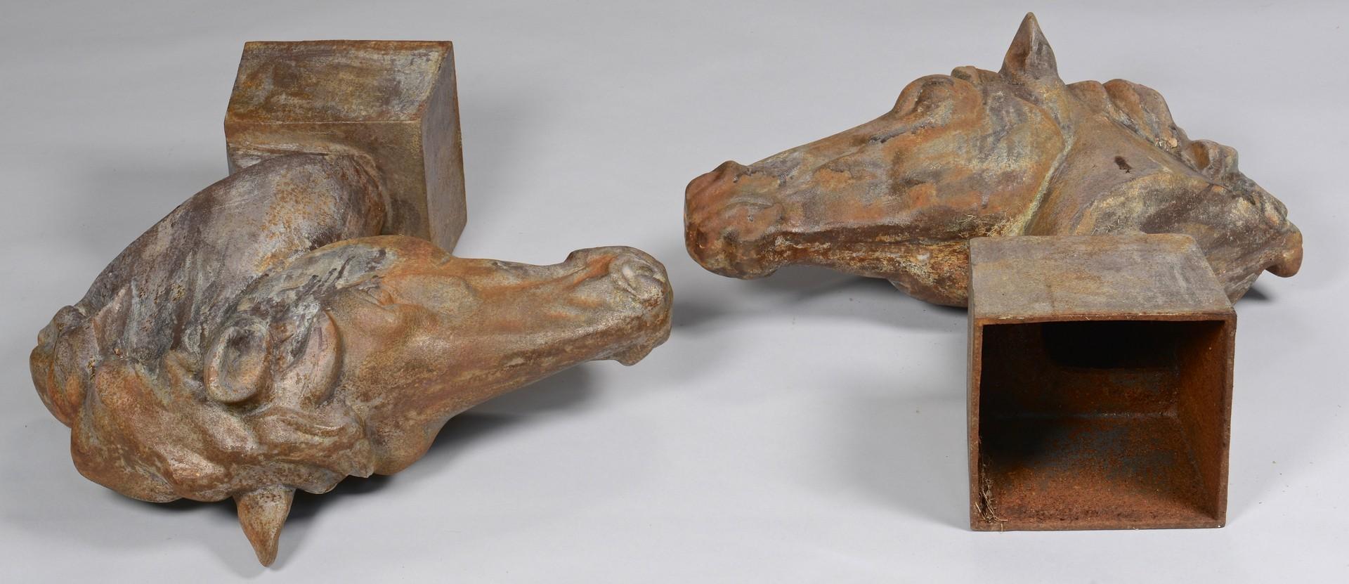Lot 783: Pair Cast Iron Horse Heads