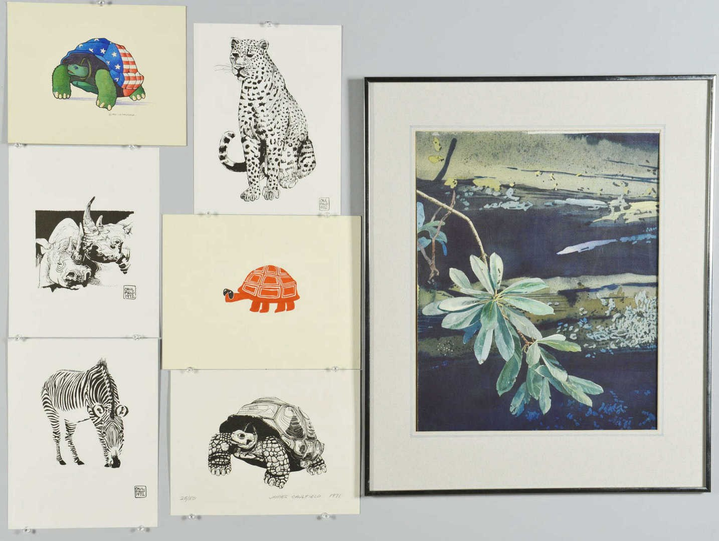 Lot 786: Seven Works by James Caulfield