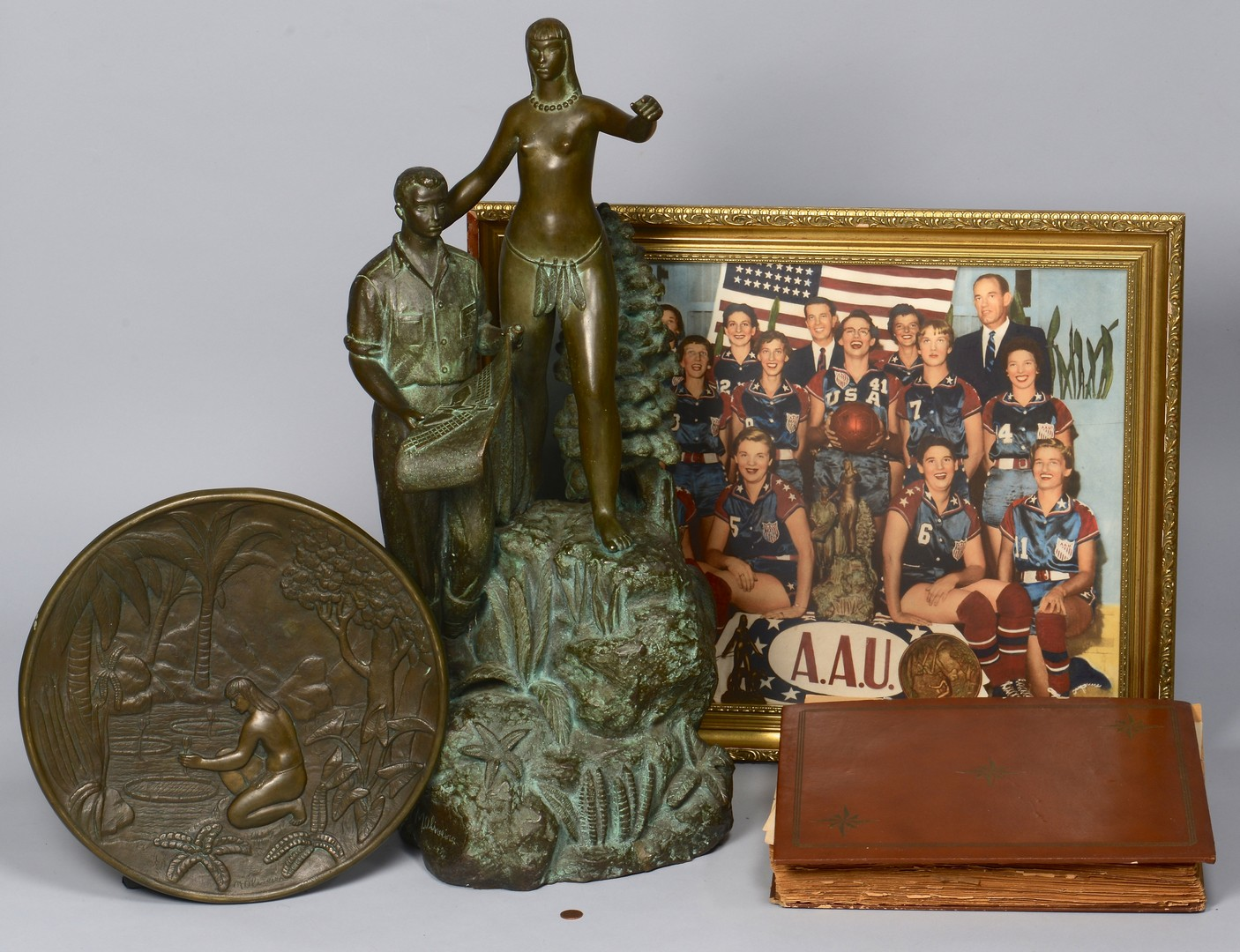 Lot 788: Bronze Basketball Trophy & Archive, 1957 World Cha