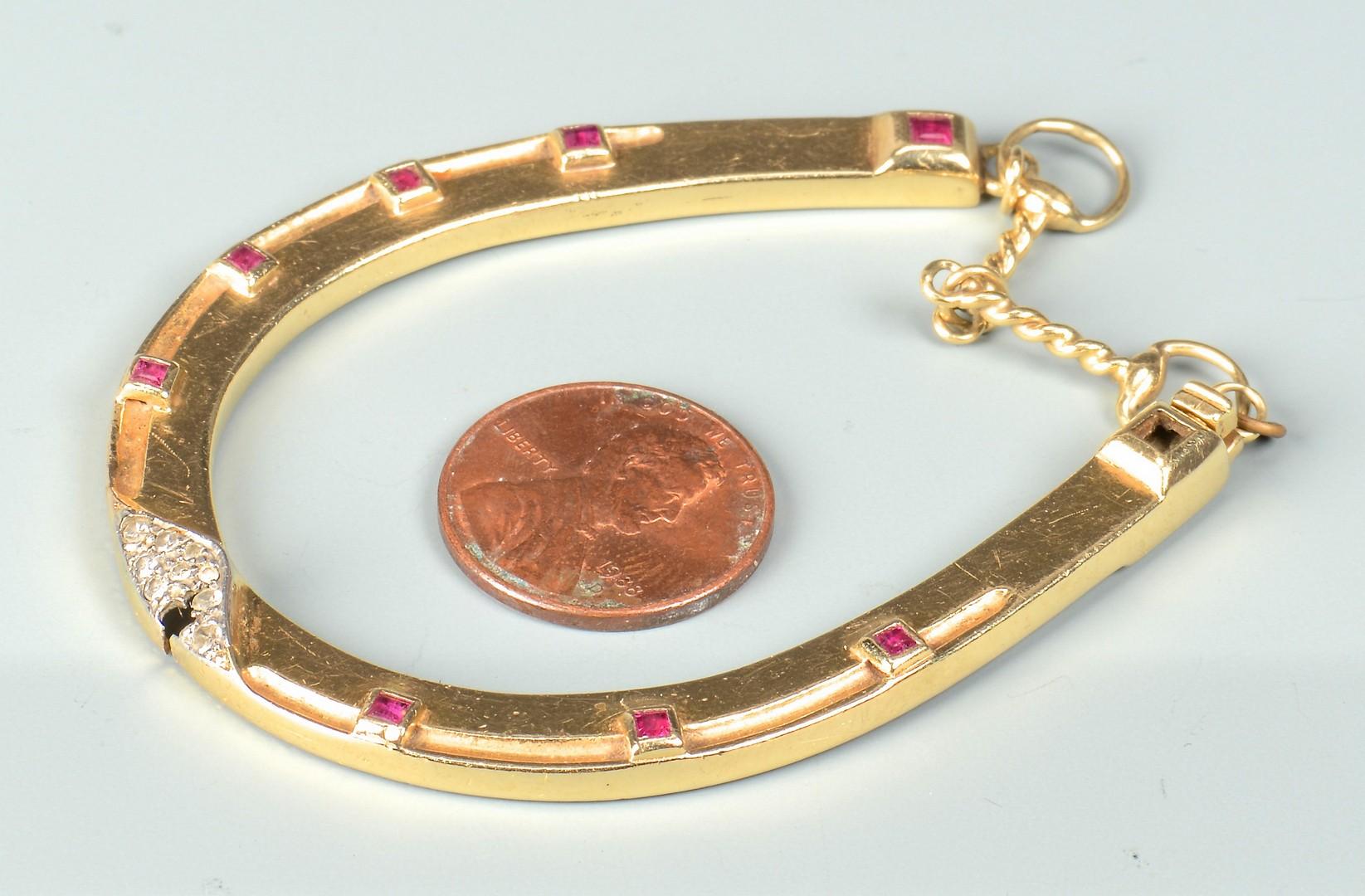 Lot 78: George Headley Horseshoe Bracelet