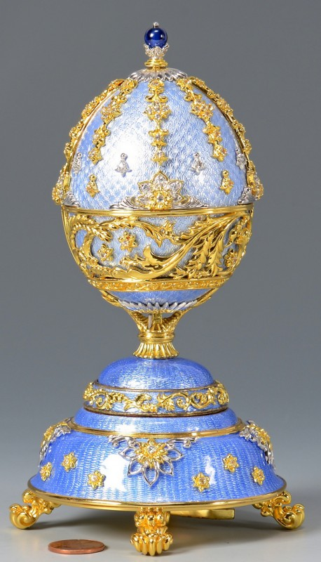 Lot 794: Franklin Mint Musical Fabergª Egg